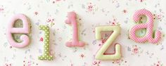Our nursery Letters personalize your baby's room! Creating a personalized space for your baby has just gotten easier with our wooden letters and name plaques! Our wooden letters for nursery come in a variety of styles. Fabric Letters, Nursery Fabric, Nursery Letters, Letter Wall, Baby Boutique, How To Make Bed, Green Fabric, Pink And Green, Candles