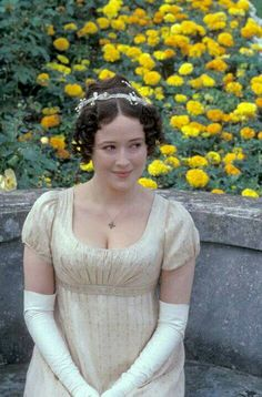 Jennifer Ehle as Elizabeth Bennet in Pride and Prejudice Jane Austen. Jennifer Ehle, Elizabeth Bennett, Bbc, Jane Austen Movies, Regency Dress, Regency Era, Period Outfit, Film Serie, Dress Picture