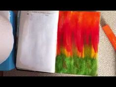 Beginner Art journal page background part one using Gelatos - YouTube