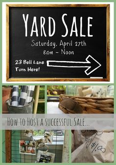 The Painted Home: {how to host a Yard Sale} - best tips I've ever seen! Great ideas!