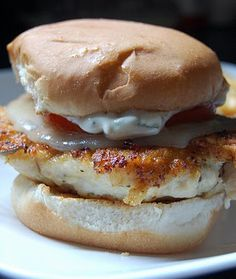 Chicken Burgers with Rosemary Garlic Mayonnaise. I'd just replace the bun with a gluten free one!