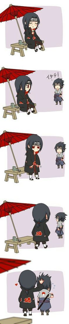 Awwww Itachi that so kawaii