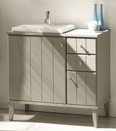 dulap baza lavor - Set Mobila / Mobilier Baie Figaro modern mdf lacuit gri mat  | #Mobila Decor, Bathroom Vanity, Outdoor Decor, Room Divider, Vanity, Furniture, Modern, Home Decor, Bathroom