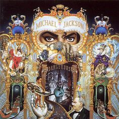 "Michael Jackson - Dangerous The creator of the cover of ""Dangerous"" was the artist Mark Ryden. It took six months to end in. Much of the life of Michael Jackson is reflected in it both in pictures as symbols. Michael Jackson Dangerous, Mark Ryden, The Smashing Pumpkins, New Jack Swing, Cover Art, Cd Cover, The White Stripes, Music Album Covers, Music Albums"