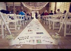 Ceremony entrance idea - couple's life on the carpet
