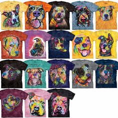 The Mountain Pit Bull T-Shirt Dean Russo Art Pitbull Dog Rescue Tee S-3XL NEW! #TheMountain #GraphicTee