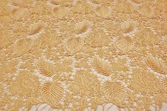Guipure lace leaf and flower design venetian by fancyfabricsonline