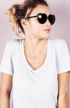 BP. 'Luv' Tortoiseshell Heart 55mm Sunglasses (Juniors)