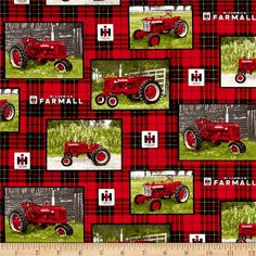 Online Shopping for Home Decor, Apparel, Quilting & Designer Fabric Fabric Panel Quilts, Fabric Panels, Farm Quilt Patterns, Tractor Quilt, Farmall Tractors, International Harvester, Applique Quilts, Amish, Farm Life