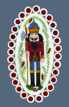 Well, OOOH! Nutcracker Penny Rug.  Now this is different!