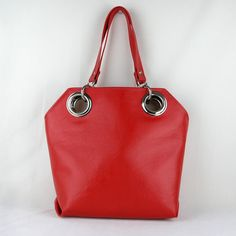 Vegan Purse in Cherry Red Cherry Red Shoulder Bag. by zaumgear