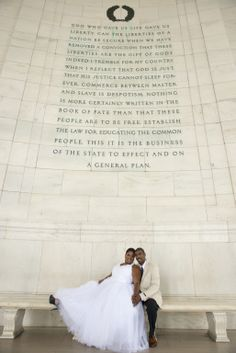 Glory Soldiers Global Founders, Ressurrection and Deven on their wedding day at the Jefferson Memorial in Washington DC. Powerful quote!