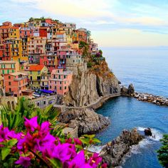 Scenery of Cinque Terre in Italy. The coastline, the five villages, and the surrounding hillsides are all part of the Cinque Terre National Park and is a UNESCO World Heritage Site. Beautiful Places To Visit, Wonderful Places, Places To See, Beautiful Beaches, Beautiful Vacation Spots, Amazing Places On Earth, Beautiful Streets, Beautiful Places In The World, Beautiful Sky
