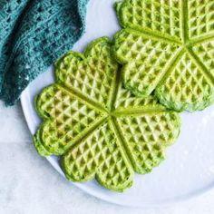 Spinatvafler - nemme grønne madvafler