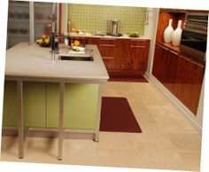 How to Wash Your Kitchen Mats:Cushioned Kitchen Mats–simple Dark Red Kitchen Mats