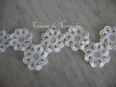 Flor em Crochê - / Flower Crochet - 1