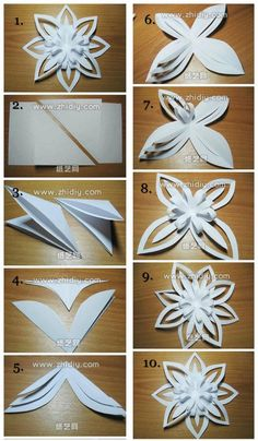In this DIY tutorial, we will show you how to make Christmas decorations for your home. The video consists of 23 Christmas craft ideas. Christmas Paper Crafts, Holiday Crafts, Christmas Diy, Christmas Ornament, Paper Flowers Diy, Flower Crafts, Snow Flakes Diy, Paper Crafts Origami, Diy Paper