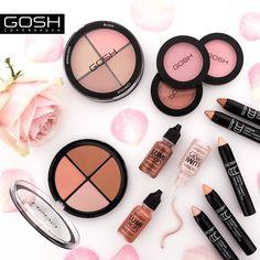 Konturowanie twarzy i efekt rozświetlenia to makijażowy hit! ☺ Z naszymi kosmetykami uzyskacie pewność efektu idealnych rysów! 💞 #goshpolska #goshcopenhagen #gosh #efektGOSH #makijaż #makeup #kosmetyki #uroda #flatlay #beauty #konturowanie #konturowanietwarzy #strobing #rozswietlacz #highlighter  #wizaz