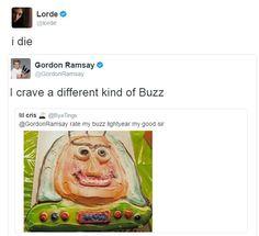 gordon ramsay twitter funny lorde buzz lightyear