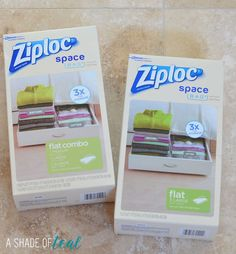 Do you have a limited amount of storage? Or if your like me your linen closet is tiny. Well I'm sharing how easy it is to make room with Ziploc® Space Bags®. #ZiplocSavesSpace #ad | A Shade Of Teal