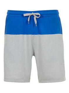 grey colour block shorts / topman
