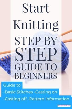 Learn knitting techniques for beginners guide including casting on, casting off,. : Learn knitting techniques for beginners guide including casting on, casting off, knit and purl stitches plus free patterns. Beginner Knitting Patterns, Knitting Basics, Easy Knitting Projects, How To Start Knitting, Learn How To Knit, Free Knitting, Diy Projects, Knitting Tutorials, Knitting Ideas