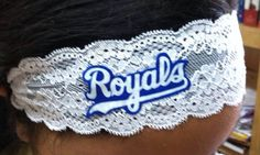 Kansas City Royals Elastic Lace Headband by HomerunHottie on Etsy, $12.00
