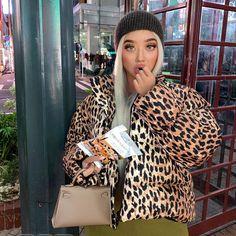 Leopard Print Oversize Puffer Jacket
