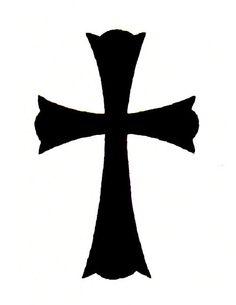 Plain Black Cross Tattoos