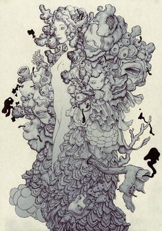 Drawing done for the Linkin Park single, Final Masquerade by James Jean.: