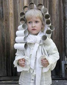 If our kids ever have to dress up for president's day...toilet paper roll headpiece - great foundation piece