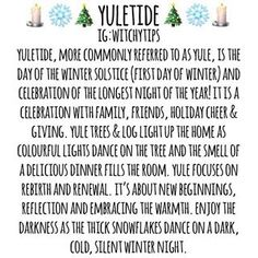 As the wheel turns, Yuletide is the next sabbat to appear. This year Yule falls on December in the northern hemisphere! Yule Crafts, First Day Of Winter, Tree Logs, Green Witchcraft, The Longest Night, Eclectic Witch, Irish Roots, My Sun And Stars, Sabbats