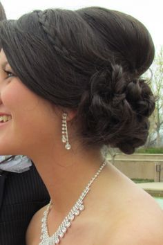 Prom updo! Not sure if I like the bump on the back..