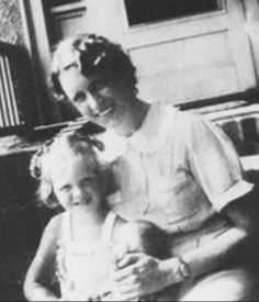 Sylvia Plath as a child with her mother