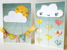 Rain and Shine Card Template and Tutorial
