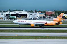 Centurion Air Cargo Originally delivered to Alitalia in March MIA. Boeing Planes, Mcdonald Douglas, Douglas Aircraft, Cargo Airlines, Air Lines, Spacecraft, Spaceship, Craft Space, Spaceships