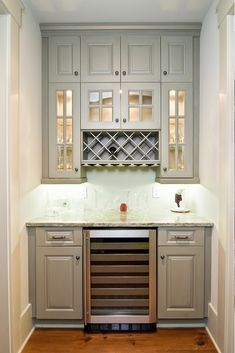Ideas for kitchen bar design ideas butler pantry Kitchen Redo, Kitchen Pantry, New Kitchen, Kitchen Cabinets, Gray Cabinets, Kitchen Nook, Awesome Kitchen, Kitchen Shelves, Kitchen Countertops