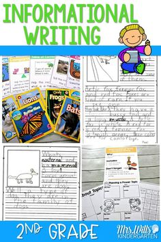 Informational writing in second grade. See how to teach writers' workshop in a 2nd grade classroom using our anchor charts and resources. #2ndgradewriting #informationalwriting #nonfictionwriting #2ndgrade #writingcurriculum