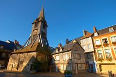 Honfleur, Normandy - Wooden Church of St Terezza and Market Square