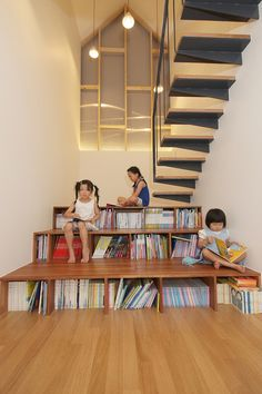 5osA: [오사] :: *책장과 계단이 꿈꾸는 작은 도서관 mlnp Architects Design Library Stairs For This Home In South Korea