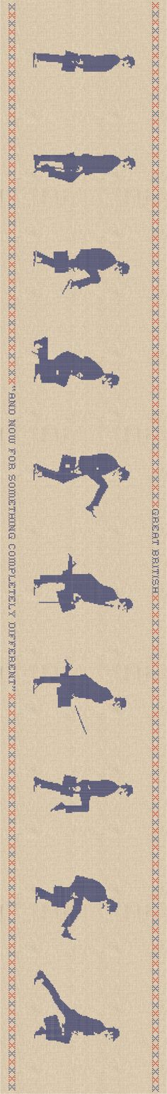 Modern Cross Stitch, Ministry of Silly Walks, Wall Stickers by Chocovenyl. I would love to make this as an actual cross stitch project.