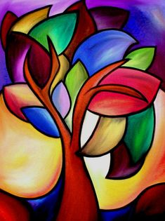 Art 'Winds Of Time – Color – by Thomas C. Fedro from Color - Malerei Art Floral, Pinterest Pinturas, Pastel Art, Art Portfolio, Paint Designs, Tree Art, African Art, Art Lessons, Flower Art