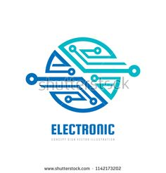 A… Electronic computer chip – concept business logo template vector illustration. Technology World, Technology Design, Digital Technology, Technology Logo, Computer Logo, Computer Chip, Computer Science, Gadgets For Dad, Gadgets And Gizmos