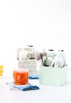 DIY Condiment Caddy Using a Recycled Bottle Carrier