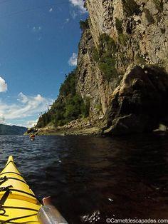 falaise-fjord-saguenay Saguenay Quebec, Les Fjords, Canadian Travel, Canada, Quebec City, Blog Voyage, East Coast, Kayaking, Places To See