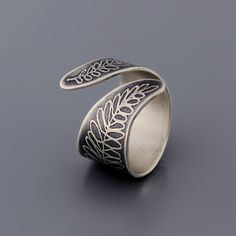 Image of Sterling Silver Fern Ring