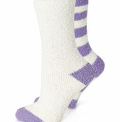 Bhs Womens Cream and Purple 2 Pack of Bedsocks, Keep your feet cosy this autumn/winter with this 2 pack of super soft snuggle socks. Presented together with a pretty silk bow, the pack contains one pair of socks with a stripey design and the other  http://www.comparestoreprices.co.uk/fashion-clothing/bhs-womens-cream-and-purple-2-pack-of-bedsocks-.asp