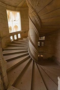 LIFE IS A SPIRAL - Double Helix staircase., Chambord, France