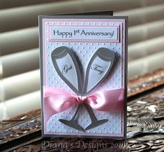 Personalized Anniversary Card Using Cricut Wedding Solutions
