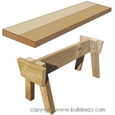 one way to build a garden stool. stool shematics